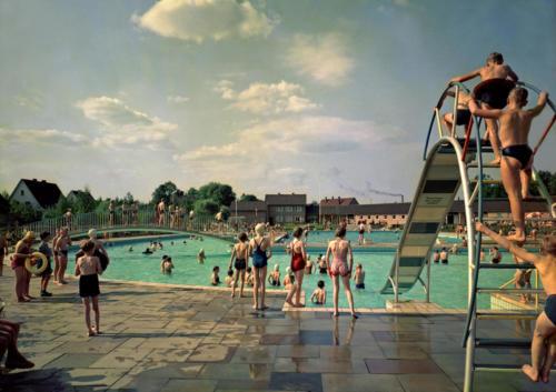 Freibad Wiedenbrück 1960er Jahre