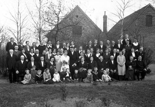 Hochzeitsgesellschaft Wiedenbrück 1920er Jahre