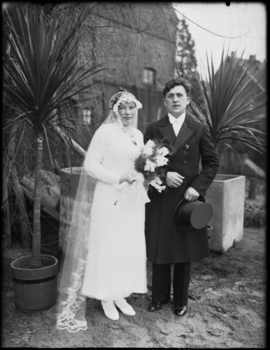 Hochzeitspaar Wiedenbrück 1920er Jahre